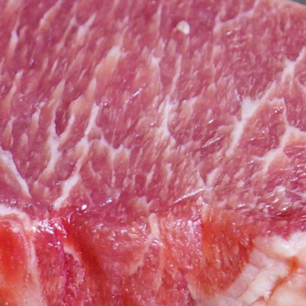 Pata Negra Iberico Schweinerücken ohne Knochen Scheibe_detail