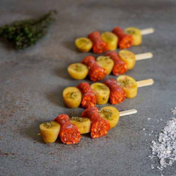 Chorizo Rosmarinkartoffel Spiess