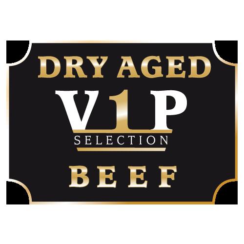 dry aged vip label