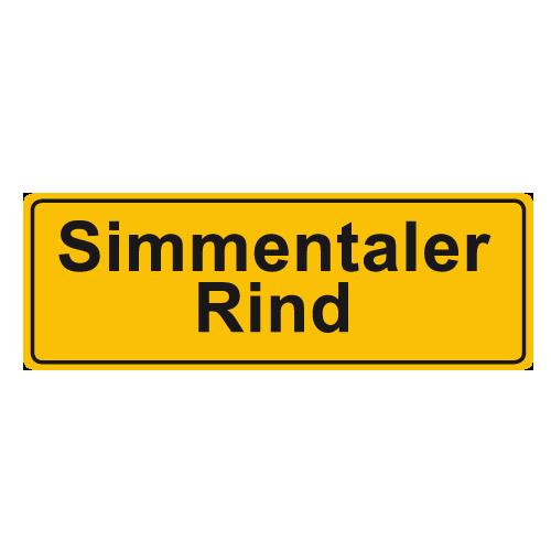 simmentaler rind label